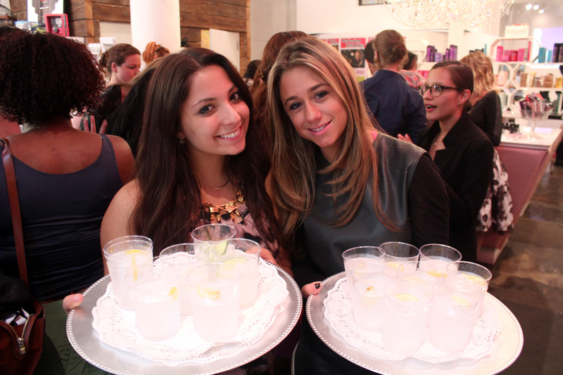 Team members from NYC PR firm, Channel V media hand out Cucumber Gin and Tonics