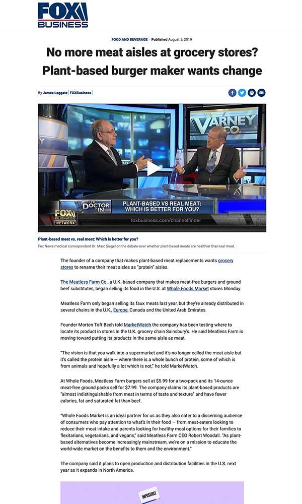 Fox Business Press Coverage